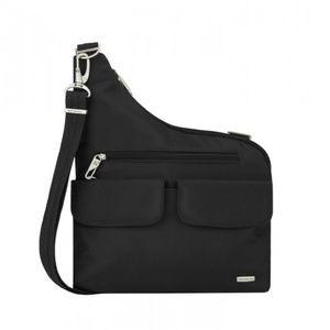 Travelon Black Messenger Bag NWT